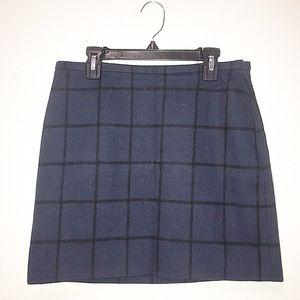 Madewell Plaid Wool Mini Skirt